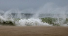 Hurrican Sandy off Miacomet Beach